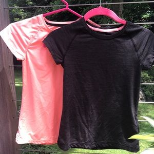 Two H&M Active Girls Shirts Size 8-10